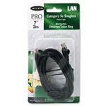 Belkin A3L79107BLKS CAT 5E, 10/100Base T Patch Cables, 7 ft., Snagless, Black