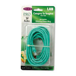 Belkin CAT 5E, 10/100Base T Patch Cables, 14 ft., Snagless, Green