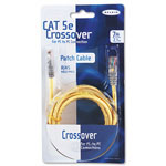 Belkin A3X12607YLWM Cat5e, 10/100Base T Crossover Patch Cable, 7 ft., Yellow