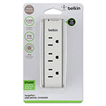 Belkin Surge Protector, 3 Outlets, 15 ft Cord, 918 Joules, Gray/Green/White