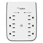 Belkin SurgePlus USB Wall Mount Charger, 6 Outlets; 2 USB, White