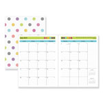 Blue Sky Teacher Dots Academic Year Monthly Planner, 8 1/2 x 11, Assorted Color Dots