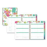 Blue Sky Day Designer CYO Weekly/Monthly Planner, 8 1/2 x 11, White/Floral, 2017-2018