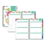 Blue Sky Day Designer CYO Weekly/Monthly Planner, 5 x 8, White/Floral, 2017-2018