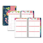 Blue Sky Day Designer CYO Weekly/Monthly Planner, 5 x 8, Navy/Floral, 2017-2018