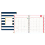 Blue Sky Day Designer Gold Corner Weekly/Monthly Planner, 8 x 10, Navy/White, 2017-2018
