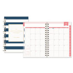 Blue Sky Day Designer Academic Year Daily/Monthly Frosted Planner, 5 x 8, Navy/White