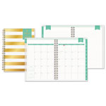 Blue Sky Day Designer Academic Weekly/Monthly Frosted Planner, 5 7/8 x 8 5/8, Gold/White