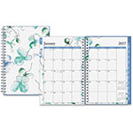 "Blue Sky Weekly/Monthly Lindley Planner, 2ppw, 12 Months, 5"" x 8"", MI"