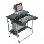 "Balt 89811 Black Foldable Portable Workstation, 27 1/2"" x 29 1/2"" x 29 1/2"""