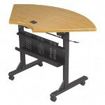 "Balt Flipper Training Table, 46"" Wide Quarter Round, Black"