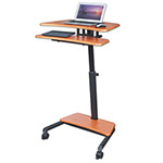 Balt Up-Rite Mobile Sit/Stand Workstation, 27 1/2w x 22 1/2d x 45 1/2h, Cherry