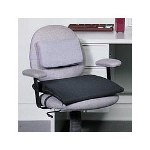 Master Caster The Comfortmakers Adjustable Seat/Back Cushion, 17w x 2 3/4d x 17 1/2h, Black