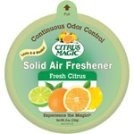 Beaumont Citrus Magic Solid Air Freshener, Fresh Citrus Scent, 8 oz., 3/PK