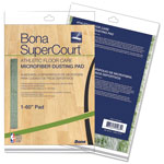 "Bona® SuperCourt Athletic Floor Care Microfiber Dusting Pad, 60"", Green"