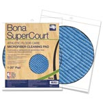 "Bona® SuperCourt Athletic Floorcare Microfiber Cleaning Pad, 20"" Dia, Light/Dark Blue"
