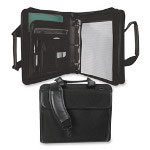 "Bond Street Ballistic Case, Removable 3"" Binder, 14""x4-1/2""x11-1/2"", Black"