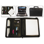 Bond Street Tablet Organizer with Removable Pad Holder, 14 3/4 x 2 x 11 1/4, Black
