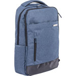 "Bond Street Backpack, Slim, f/15.6"" Laptop, 13""Wx11-1/2""Dx18""H, Blue"