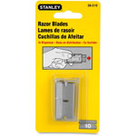 Stanley Bostitch Single Edge Razor Blades, High Carbon Steel, 10 Blades/Pack