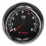 "Bosch Group 3-3/8"" Tachometer Black/Chrome"