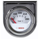 "Bosch Group 2"" Electrical Water Temperature Gauge, White Face"