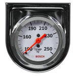 "Bosch Group 2"" Mechanical Water/Oil Temperature Gauge, White Face"