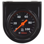 "Bosch Group 2"" Mechanical Oil Pressure Gauge, Black Face"