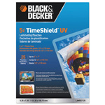 Black & Decker TimeShield UV Laminating Pouches, 5 mil, 5 x 7, 25/Pack