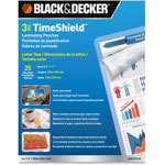 Black & Decker TimeShield Laminating Pouches, 3 mil, 8 1/2 x 11, 25/Pack
