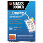 Black & Decker TimeShield Laminating Pouches, 5 mil, Luggage Tag with Loops, 10/Pack