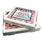 "Box & Container Co. Pizza Boxes, White Printed, 8""x8"", White"