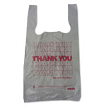 "Barnes Paper Company Plastic Thank You T-Sacks, 6"" x 4"" x 15"", 2 Mil, White"