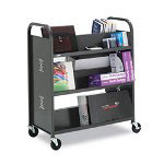 Bretford TechMark Book & Utility Truck, 6-Shelf, 36w x 18d x 43h, Anthracite
