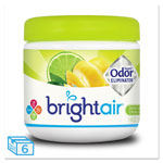 Bright Air Super Odor Eliminator, Zesty Lemon & Lime, 14 oz Jar, 6/Carton