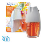 Bright Air Electric Scented Oil Air Freshener Warmer/Refill, Hawaiian Blossoms/Papaya, 8/CT