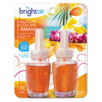 Bright Air Electric Scented Oil Air Freshener Refill, Hawaiian Blossoms and Papaya, 2/Pack