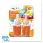 Bright Air Electric Scented Oil Air Freshener Refill, Hawaiian Blossom/Papaya,2/PK, 6 PK/CT