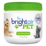Bright Air Pet Odor Eliminator, Cool Citrus, 14 oz Jar, 6/Carton