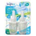 Bright Air Electric Scented Oil Air Freshener Refill, Linen & Spring Breeze,0.67oz Jar,2/Pk