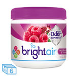 Bright Air Super Odor Eliminator, Wild Raspberry & Pomegranate, 14 oz Jar, 6/Carton