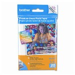 Brother Premium Glossy Inkjet Photo Paper , 9 mil, 4 x 6, 20 Sheets
