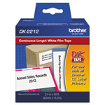 "Brother Labelmaker Continuous White Film Labels, 2 3/7"" x 50 Foot Roll"