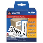 "Brother Continuous Paper Label Tape, 2"" x 100 ft, Black/White"