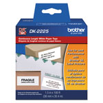 "Brother Continuous Paper Label Tape, 1-1/2"" x 100 ft, Black/White"