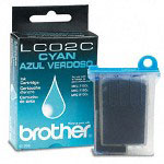 Brother LC02C Cyan Ink Jet Cartridge, 400 Pages