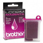 Brother LC02M Magenta Ink Jet Cartridge, 400 Pages