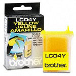 Brother LC04Y Yellow Print Cartridge, 410 Pages