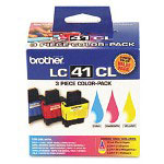 Brother LC413PKS Cyan, Magenta and Yellow Inkjet Cartridges, 400 Pages