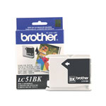 Brother LC51BKS, Black Inkjet Cartridge, 500 Pages